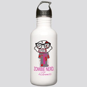 Zombie Nerd breast can Stainless Water Bottle 1.0L