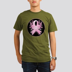 PinkRibLoveSwirlRbTR Organic Men's T-Shirt (dark)