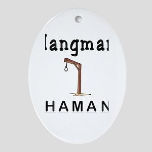 Hangman Haman Oval Ornament