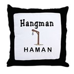 Hangman Haman Throw Pillow