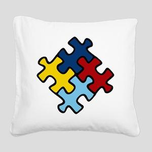 Autism Puzzle Square Canvas Pillow