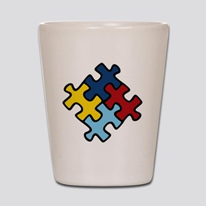 Autism Puzzle Shot Glass