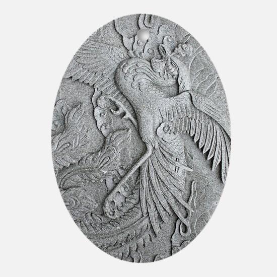 phoenixkindlesleeve Oval Ornament