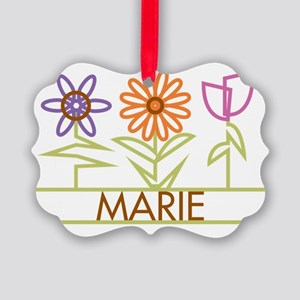 MARIE-cute-flowers Picture Ornament