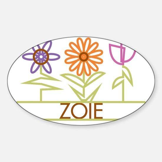 ZOIE-cute-flowers Sticker (Oval)