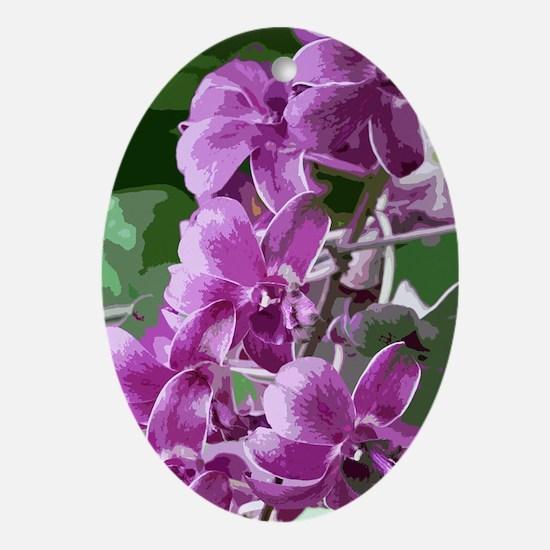 purpleorchidsmodkindlesleeve Oval Ornament