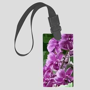 purpleorchidsmodkindlesleeve Large Luggage Tag