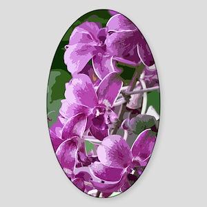 purpleorchidsmodkindlesleeve Sticker (Oval)