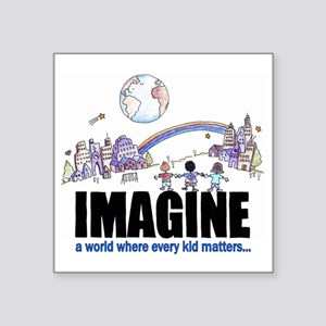 "Imagine reframed Square Sticker 3"" x 3"""