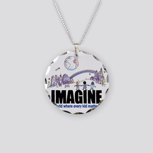 Imagine reframed Necklace Circle Charm