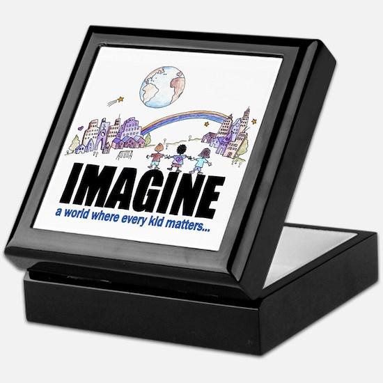Imagine reframed Keepsake Box