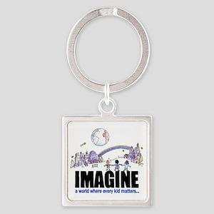 Imagine reframed Square Keychain