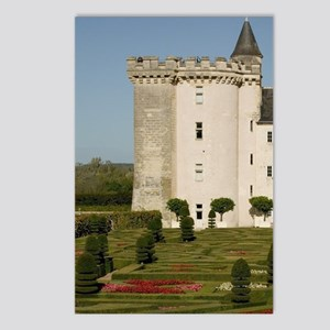 Garden at the Chateau of  Postcards (Package of 8)
