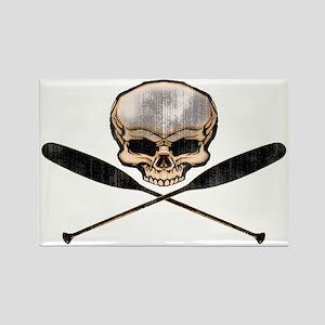 skull oars crossbones Rectangle Magnet