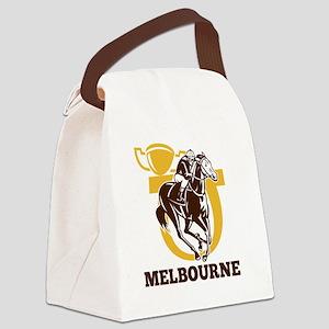 horse race jockey racing horsesho Canvas Lunch Bag
