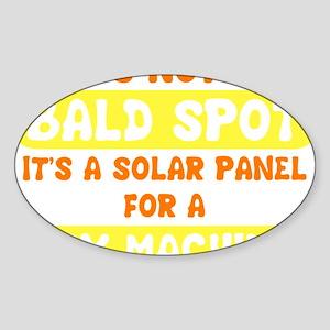 bald spot sex machine darks Sticker (Oval)