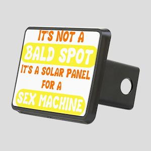 bald spot sex machine dark Rectangular Hitch Cover