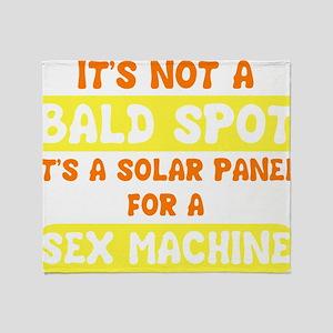bald spot sex machine darks Throw Blanket