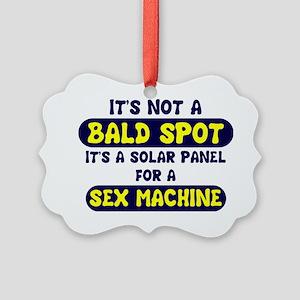 bald spot sex machine lights Picture Ornament