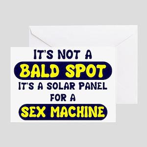 bald spot sex machine lights Greeting Card