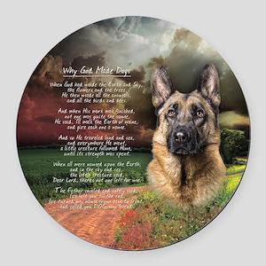 godmadedogs(button) Round Car Magnet