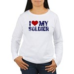 I heart love my Soldier Army Women's Long Sleeve T