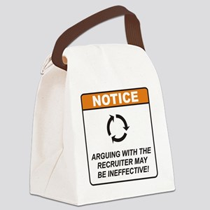 Recruiter_Notice_Argue_RK2011 Canvas Lunch Bag
