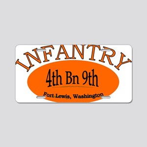 4th Bn 9th Infantry cap2 Aluminum License Plate
