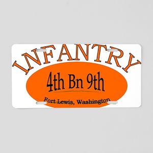 4th Bn 9th Infantry cap2 Aluminum License Plate
