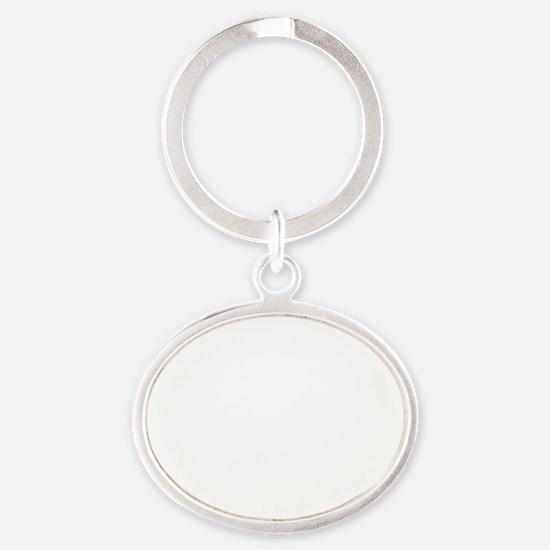 Irony White Oval Keychain