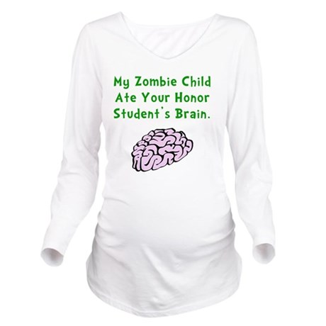 Zombie Child Brain G Long Sleeve Maternity T-Shirt
