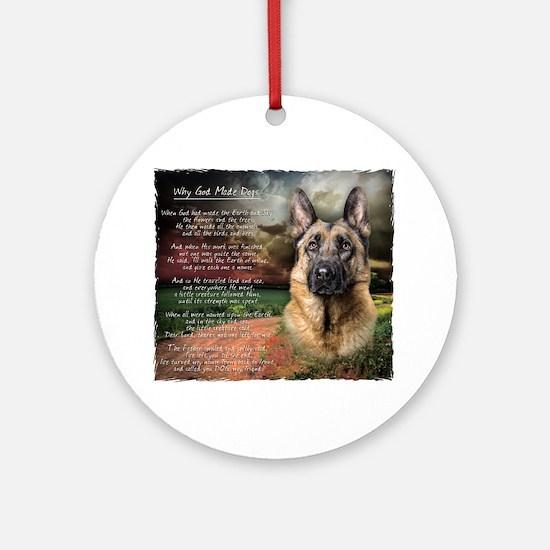 godmadedogs2 Round Ornament