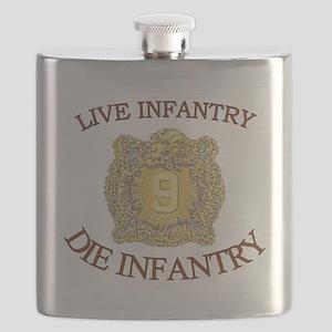 4th Bn 9th Infantry cap4 Flask