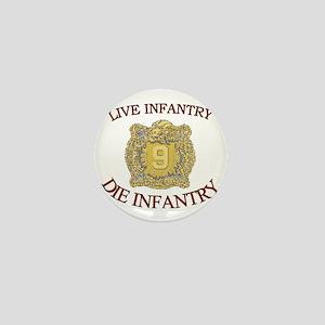 4th Bn 9th Infantry cap4 Mini Button
