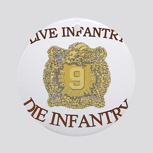4th Bn 9th Infantry cap4 Round Ornament