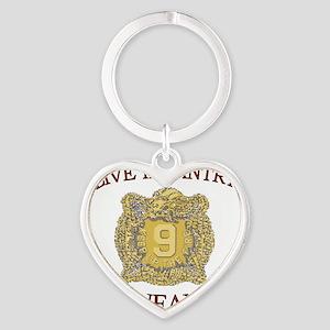 4th Bn 9th Infantry cap4 Heart Keychain