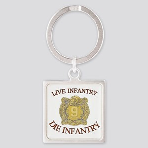 4th Bn 9th Infantry cap4 Square Keychain