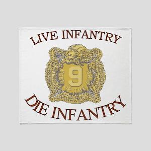 4th Bn 9th Infantry cap4 Throw Blanket