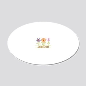MEREDITH-cute-flowers 20x12 Oval Wall Decal