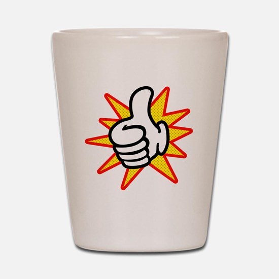 Thumbs Up Shot Glass