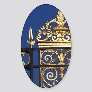 Wrought iron fence. Tuileries garde Sticker (Oval)