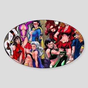 mansionwomen Sticker (Oval)