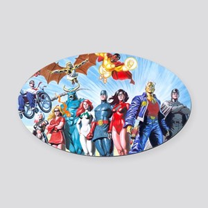 MansionComicsGroup Oval Car Magnet