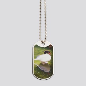 black neck swan Dog Tags