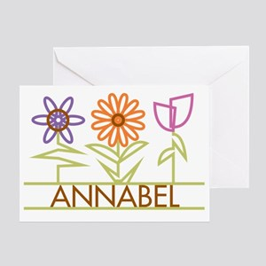 ANNABEL-cute-flowers Greeting Card