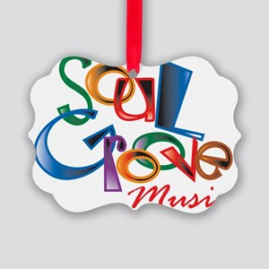soul_groove_music_logo_h5.5x5.5 Picture Ornament