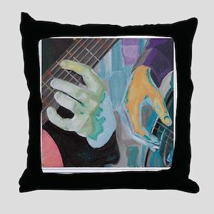 Guitar Hands Shirt Throw Pillow