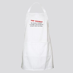 Security Clearance Joke BBQ Apron