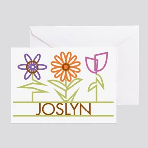 JOSLYN-cute-flowers Greeting Card
