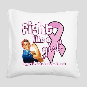 fightlikeagirl Square Canvas Pillow